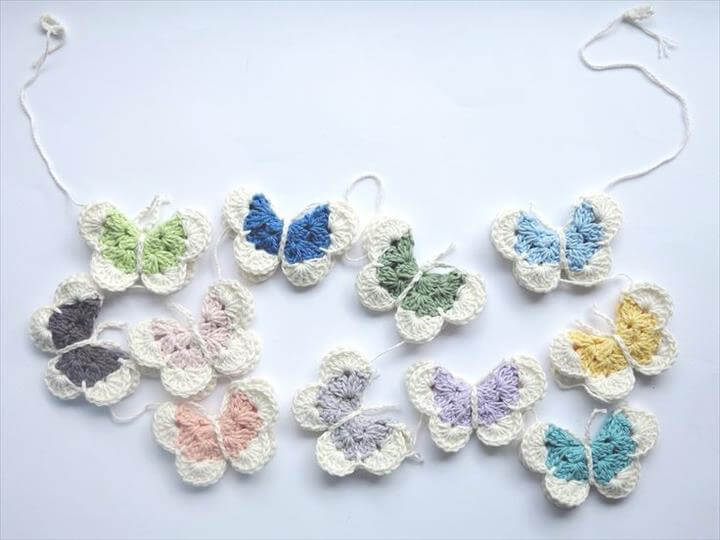 Pantone Butterfly Garland