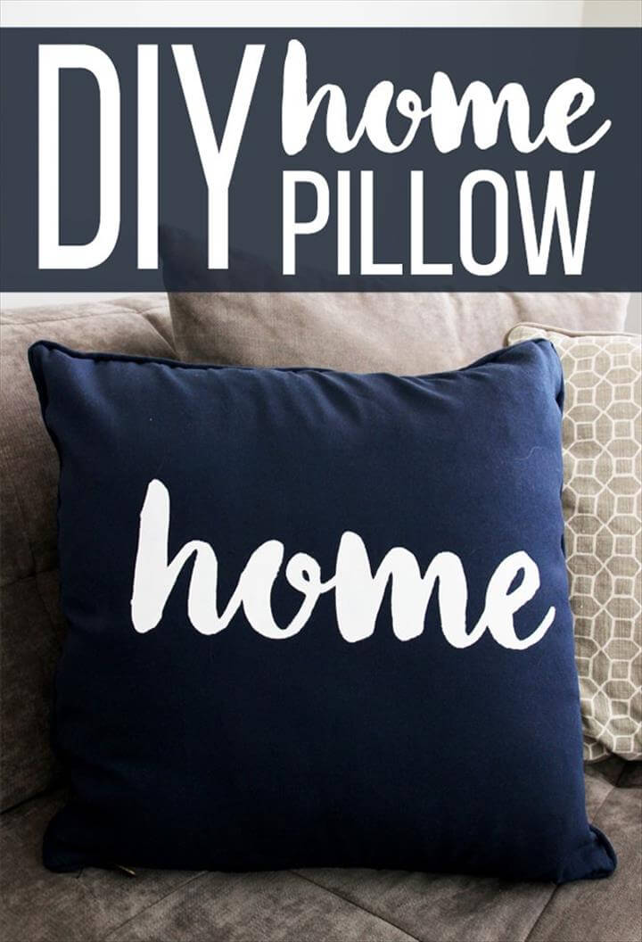 DIY painted pillow tutorial