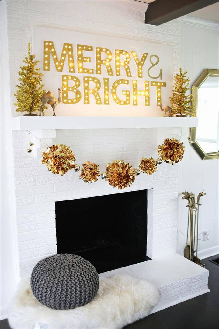 Love this holiday garland DIY!