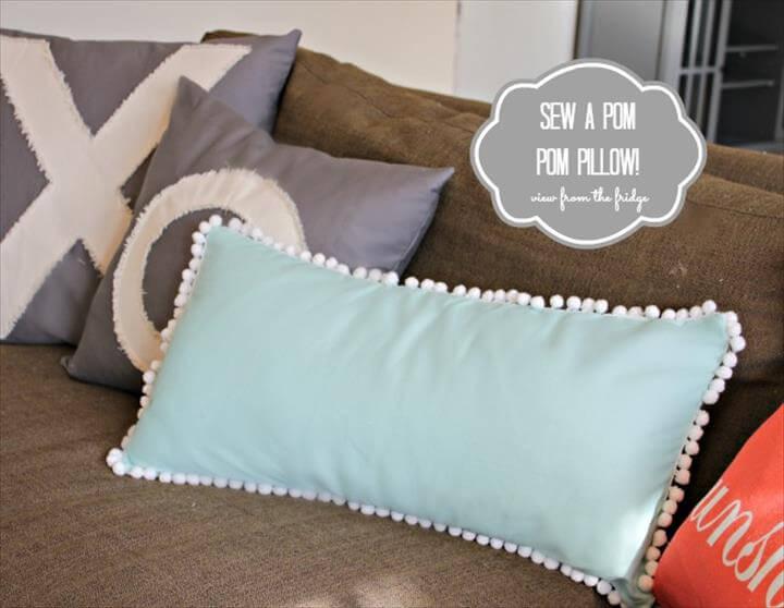 Sew a Pom Pom Pillow