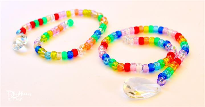 Pony Bead and Prism Suncatchers: A Fine Motor Craft for Kids - Rhythms of Play