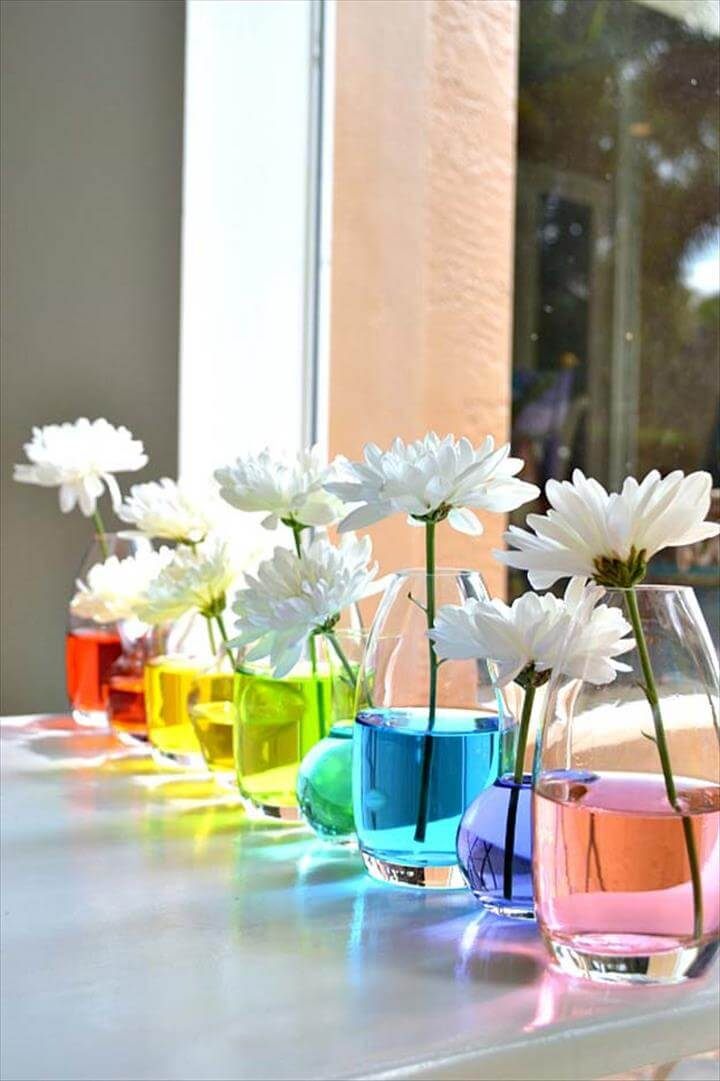Best DIY Rainbow Crafts Ideas - Rainbow Centerpiece - Fun DIY Projects With Rainbows Make Cool