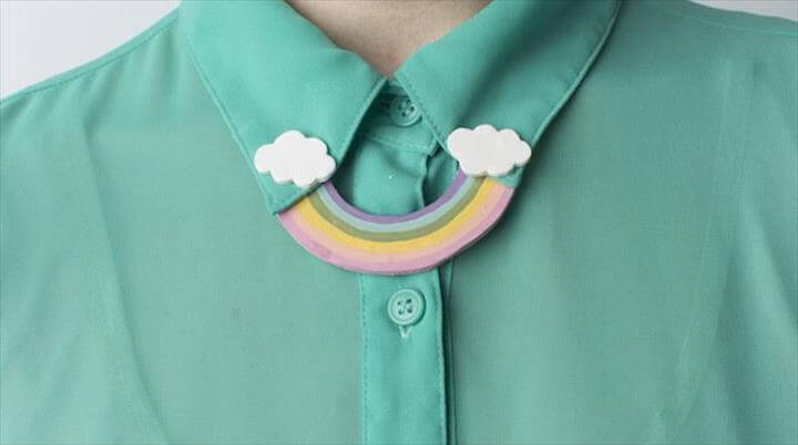 DIY Rainbow Collar Pin