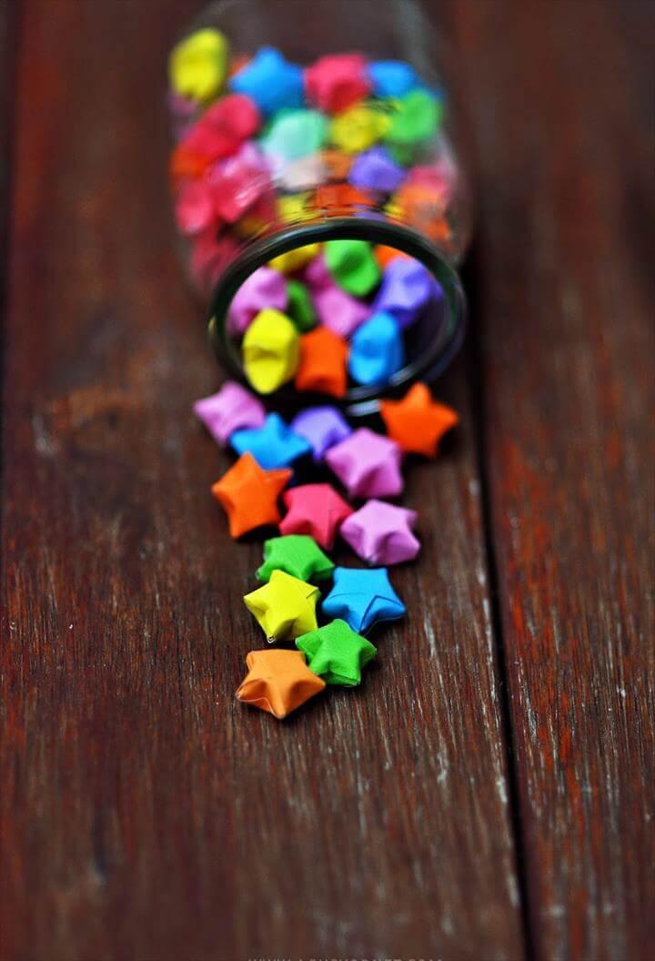 Rainbow Origami Stars
