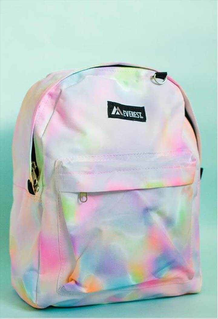 Best DIY Rainbow Crafts Ideas - Rainbow Watercolor Bagpack - Fun DIY Projects With Rainbows Make