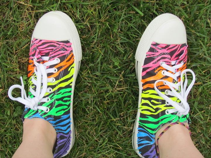 Rainbow Zebra Shoes