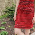 crochet red skirt