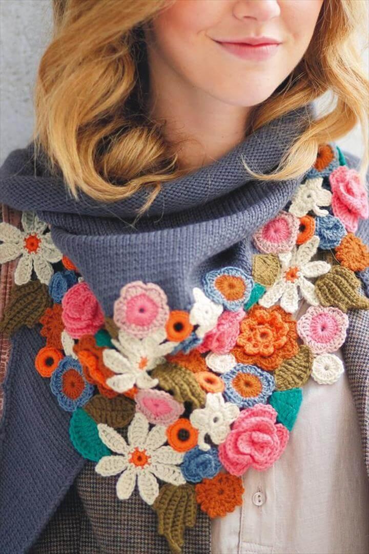 Spring scarf pattern