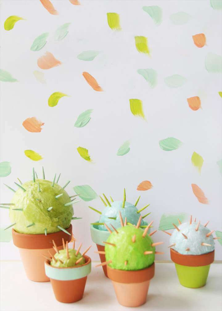 diy cactus toothpick craft