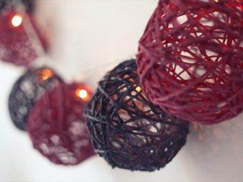 DIY Garland Of Yarn For All Holidays and Weekdays