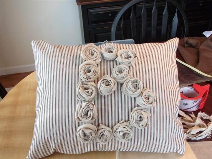 Twine-Tied Burlap Grain Sack Pillow