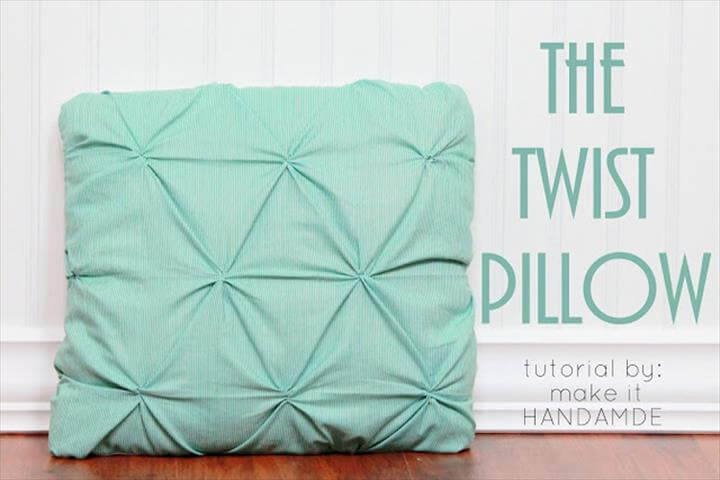 Image result for DIY PILLOW IDEAS AND TUTORIAL Twist Pillow Tutorial
