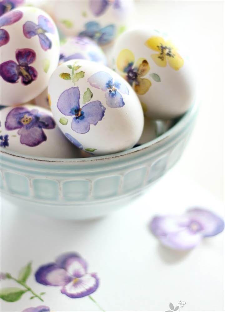 watercolor flower egss