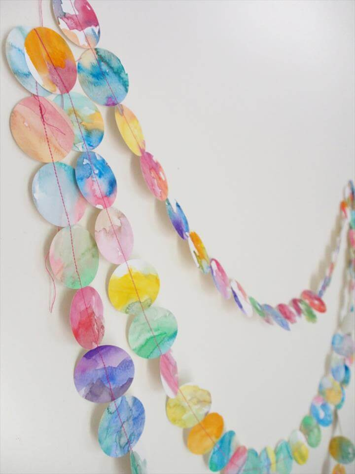 Watercolor Garland
