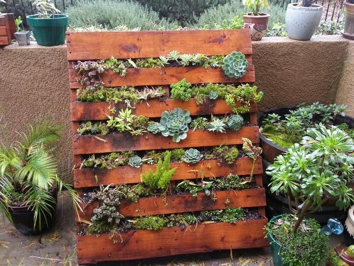 mini pallet planters