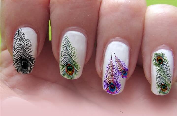 Nail Art Feather Emsilog