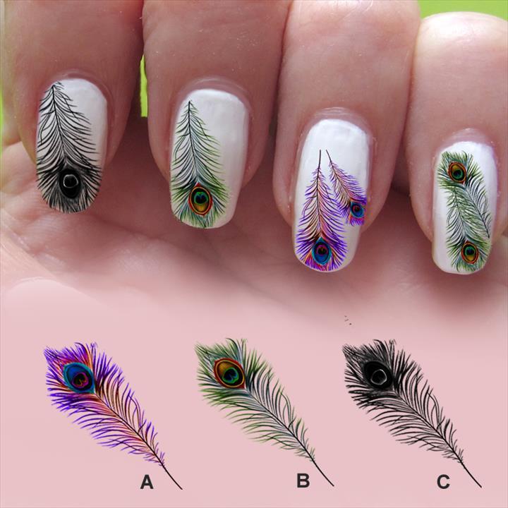 Nail Art Feather Emsilog