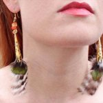 DIY Flowing Feather Earrings
