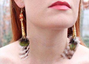 DIY Flowing Feather Earrings