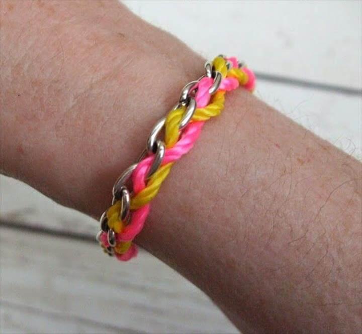 Chain and Tread Bracelet