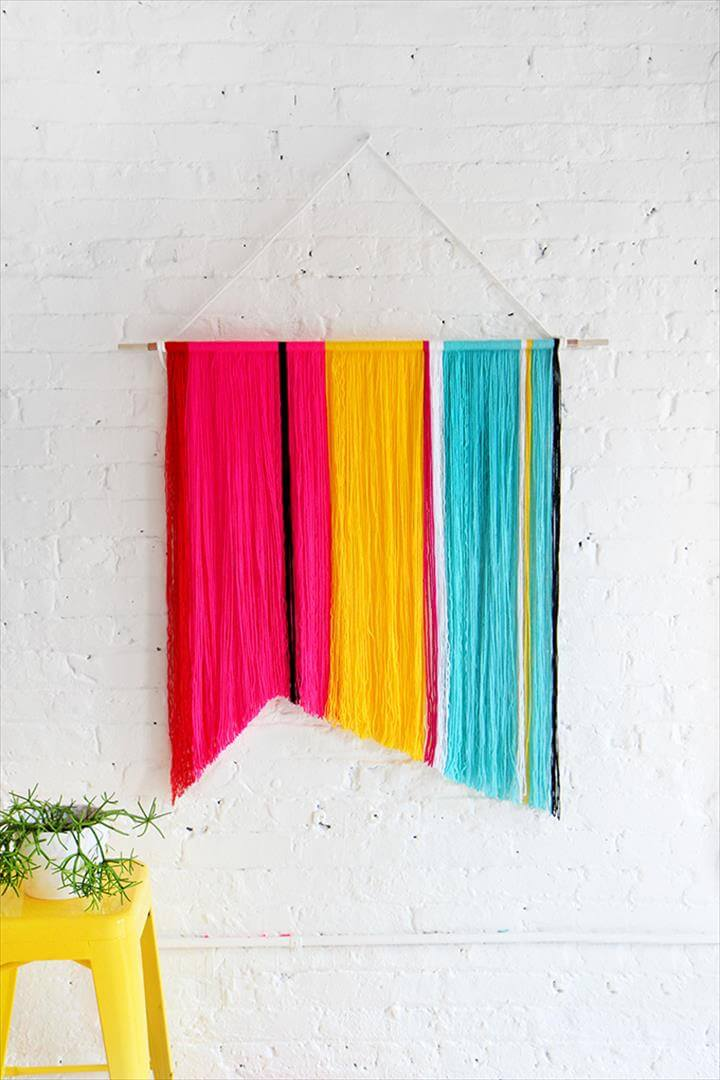 Best 54 ideas about diy yarn wall art diy to make for Diy colorful wall art