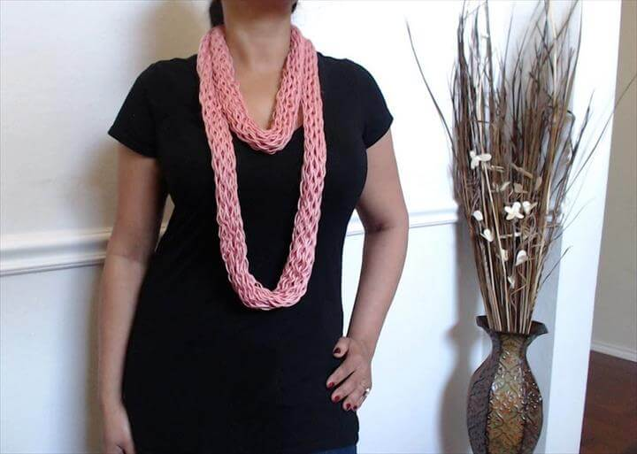 no crochet or knit scarf