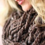 DIY Arm Knitting Scarf