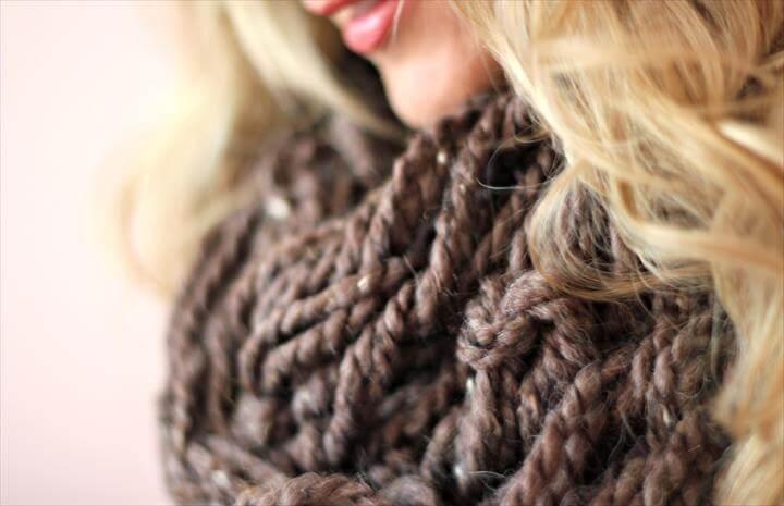 DIY Arm Knitting Scarf