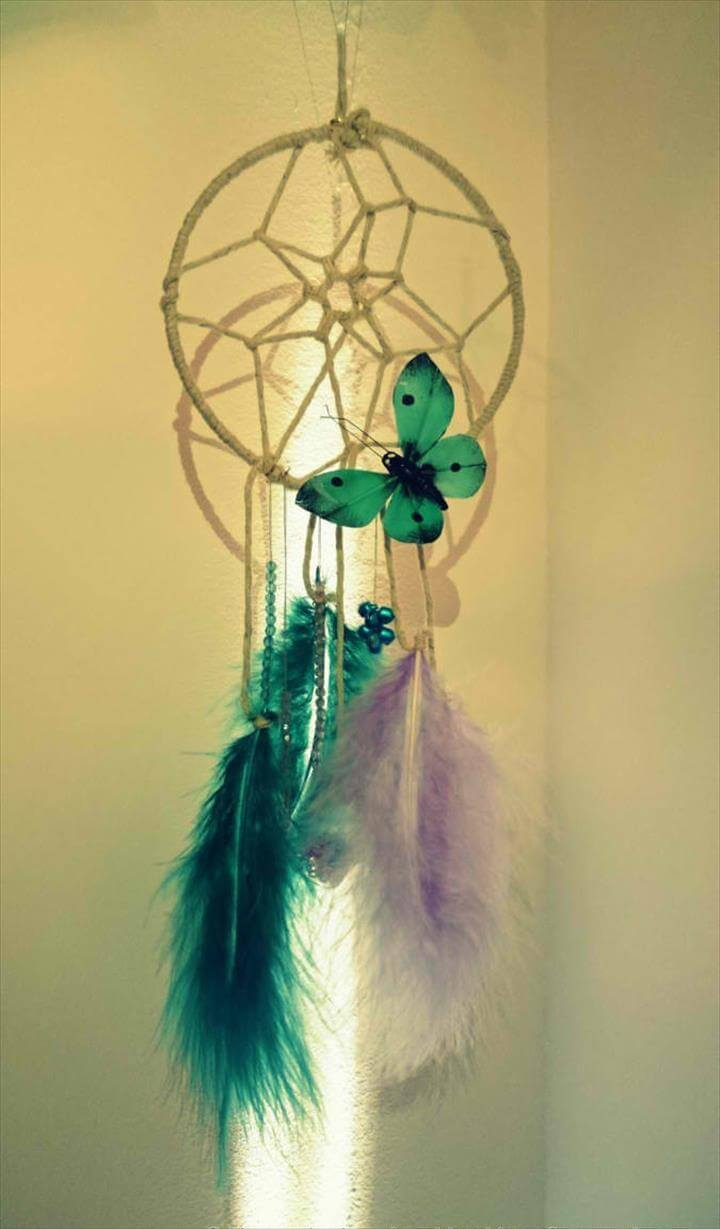 DIY Butterfly Dream Catcher