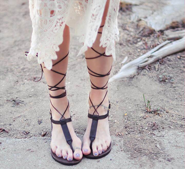 Diy Alexander Wang Inspired Gladiator Sandals A Pair Spare
