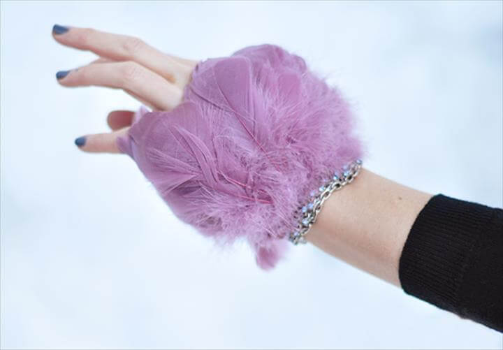 DIY FEATHER BRACELET Dramatic Feather Bracelet Cuff DIY