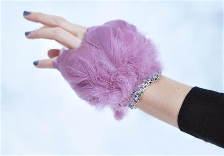 DIY FEATHER BRACELET Dramatic Feather Bracelet Cuff DIY