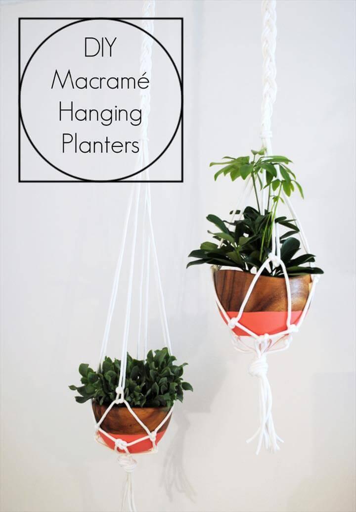 DIY Macramé Hanging Planters