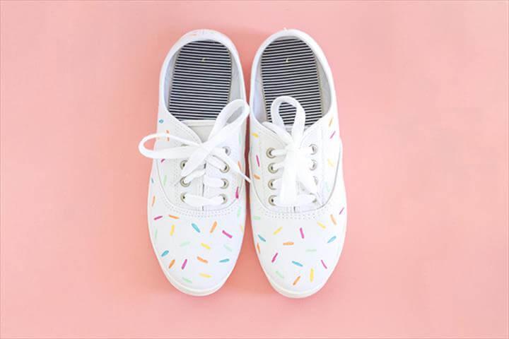 Image result for DIY Sprinkle Sneakers DIY Painted Ice Cream Sprinkles Shoes