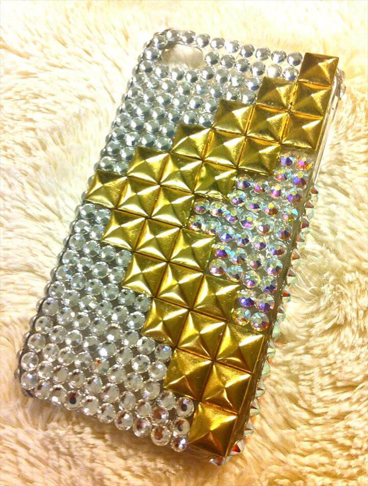 diy blinged iphone