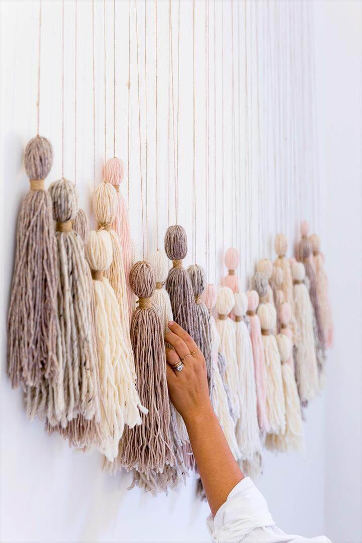 Wall Hanging Picture Diy : Best ideas about diy yarn wall art to make