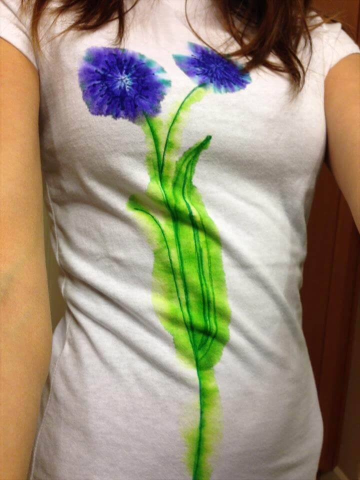 diy watercolor t shirt