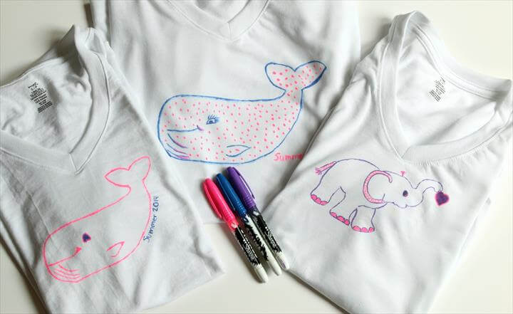DIY Sharpie Stained T-Shirts | DIY T-Shirt | Sharpie Tie-Dye