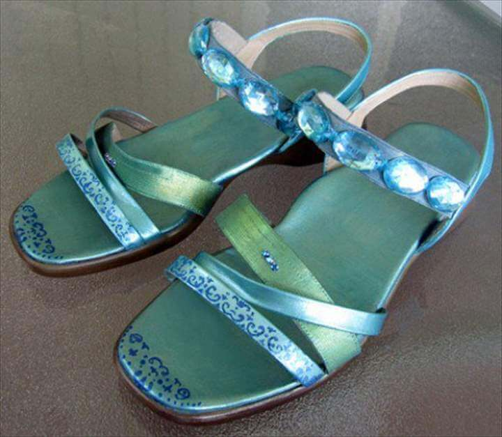 finished sandals