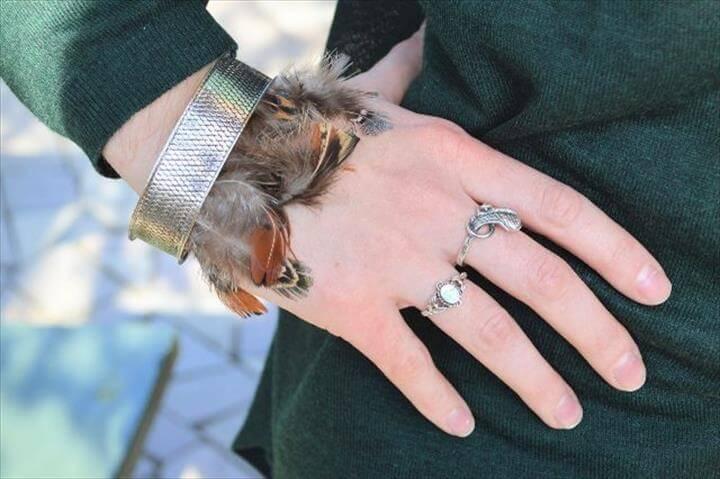 DIY FEATHER BRACELET Excellent DIY Feather Bracelets