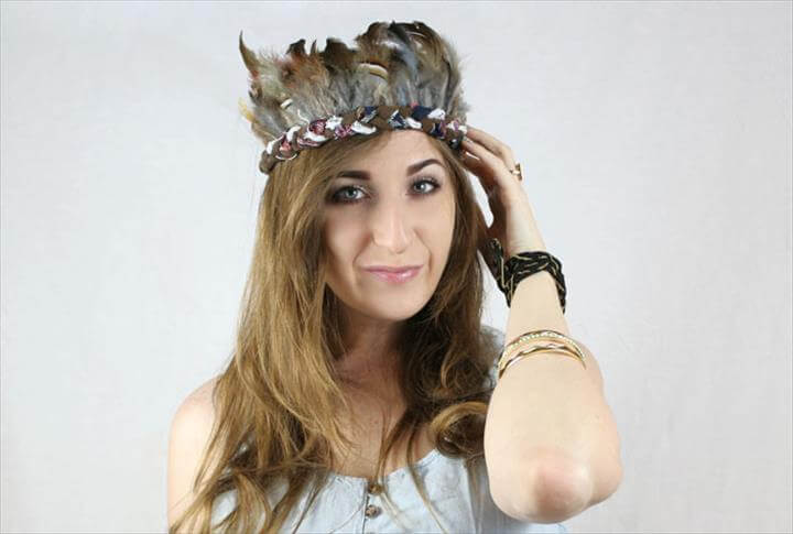 DIY feather headband