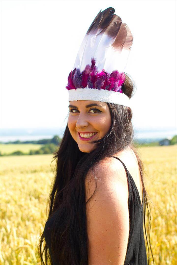 DIY Festival Feather Headdress
