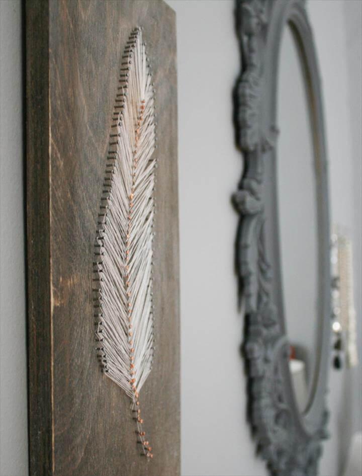 DIY Feather Home Decor ideas