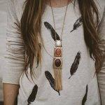 feather stamp t shirt diy