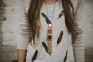 feather stamp t shirt diy
