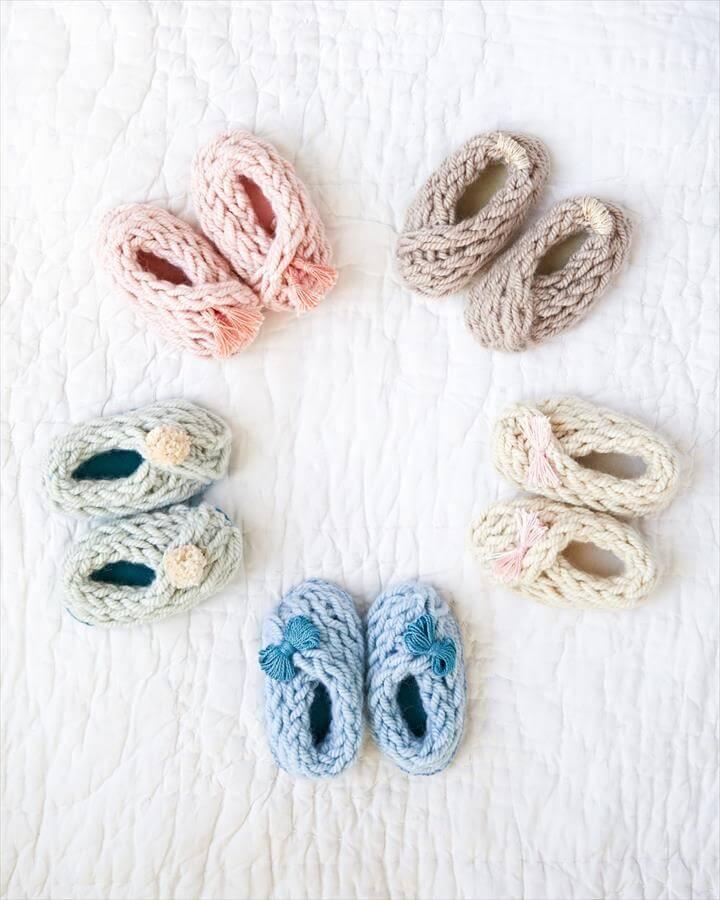 DIY Baby Booties