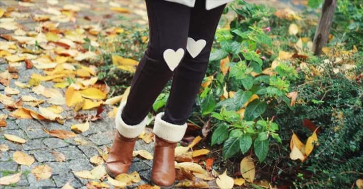 Heart Patch Leggings
