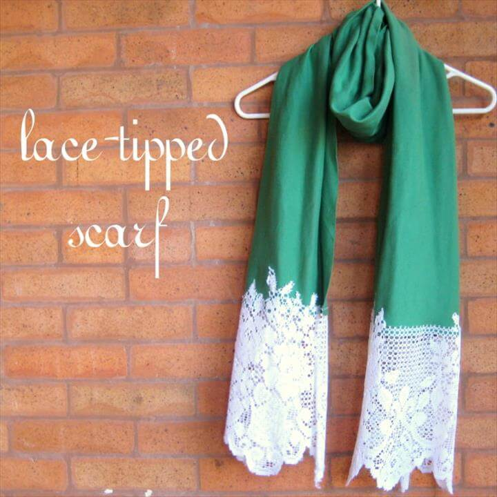 lace tipped scarf