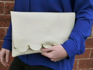DIY Leather Studded Clutch Bag