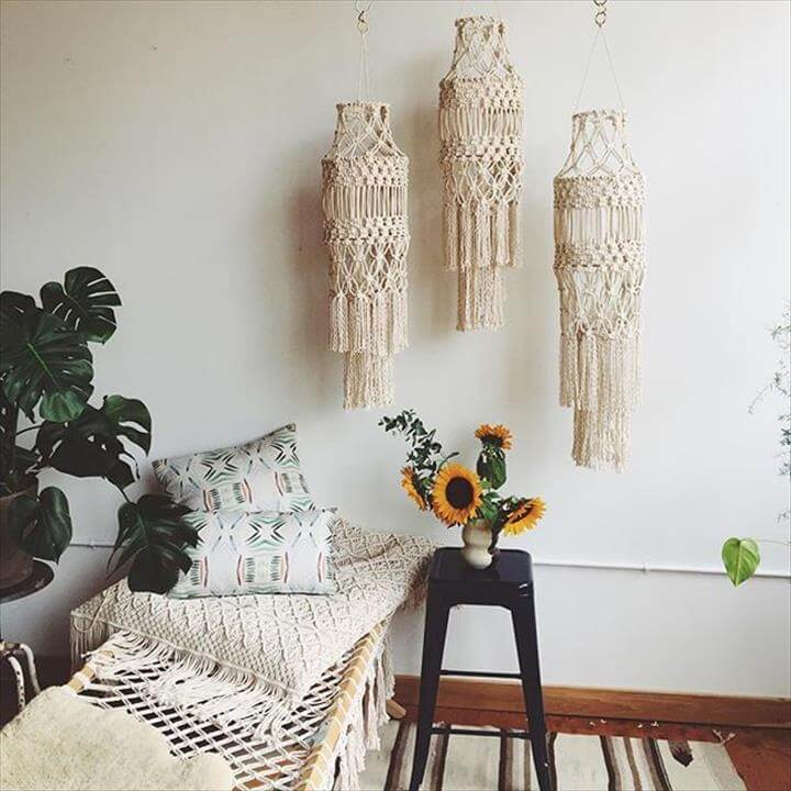 beautiful macrame chandeliers